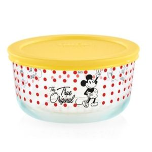 Pyrex Mickey Mouse Yellow Lid 4 Cup Storage